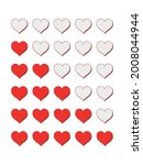 quality rating signs. heart... | Shutterstock .eps vector #2008044944