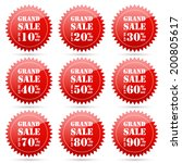 grand sale up to 10 20 30 40 50 ... | Shutterstock .eps vector #200805617