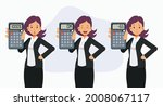 set of female accountant... | Shutterstock .eps vector #2008067117