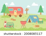 campsite in nature. there are... | Shutterstock .eps vector #2008085117