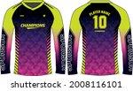 long sleeve racing t shirt ...   Shutterstock .eps vector #2008116101
