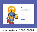 sign up page template design.