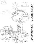 cute goose farm animals... | Shutterstock .eps vector #2008168154