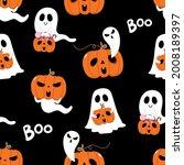 happy halloween wallpaper with... | Shutterstock .eps vector #2008189397