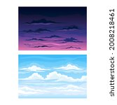 sky scene with clouds drifting...   Shutterstock .eps vector #2008218461