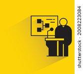 speaker on podium and diagram...   Shutterstock .eps vector #2008223084