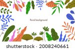 floral background with border... | Shutterstock .eps vector #2008240661