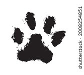 tiger's paw  ink dog paw ...   Shutterstock .eps vector #2008254851