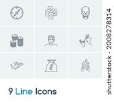 imagination icon set and magic...   Shutterstock .eps vector #2008278314