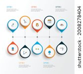 salon icons colored line set...   Shutterstock .eps vector #2008278404