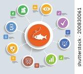 strategy info graphic design... | Shutterstock .eps vector #200830061