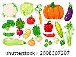 cartoon vegetables. carrot ...   Shutterstock .eps vector #2008307207