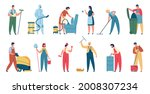 cleaning service. professional...   Shutterstock .eps vector #2008307234
