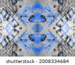 blue abstract mark. ink dark...   Shutterstock . vector #2008334684