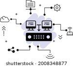 shared hosting concept ... | Shutterstock .eps vector #2008348877
