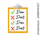 clipboard with checklist on a... | Shutterstock .eps vector #2008349327