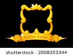 gold frame with crown  square...