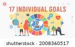 17 individual goals ... | Shutterstock .eps vector #2008360517