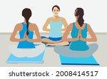 three female in yoga classes...   Shutterstock .eps vector #2008414517
