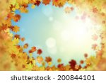 background image with autumn... | Shutterstock . vector #200844101