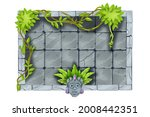 stone jungle game frame  vector ...