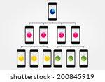 smart phone flowchart vector... | Shutterstock .eps vector #200845919