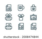 print on demand icons...   Shutterstock .eps vector #2008474844
