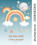 a cute vector of baby boy with... | Shutterstock .eps vector #2008483304