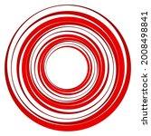 geometric spiral  swirl  twirl... | Shutterstock .eps vector #2008498841