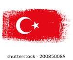 brushstroke flag turkey | Shutterstock .eps vector #200850089