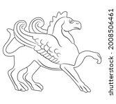 antique griffin. fantastic...   Shutterstock .eps vector #2008506461
