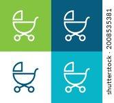 baby stroller outline of side... | Shutterstock .eps vector #2008535381