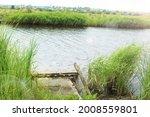 Fishing Wooden Bridge On The...