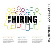 we are hiring minimalistic...   Shutterstock .eps vector #2008615544
