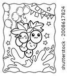 Kawaii Coloring Page. Cute...