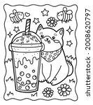 Kawaii Coloring Page Cute Corgi ...