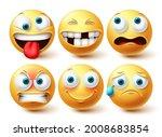 emoji funny vector set. emojis... | Shutterstock .eps vector #2008683854