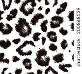 Leopard Skin  Repeat Pattern.