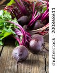 fresh vegetables beetroot on ...