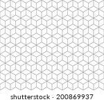 hexagonal abstract connection... | Shutterstock .eps vector #200869937