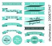 ribbons vintage vector set in... | Shutterstock .eps vector #200871947