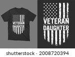 veteran daughter t  shirt... | Shutterstock .eps vector #2008720394