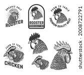 set of rooster meat emblems....   Shutterstock .eps vector #2008722791