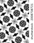 ornament with elements of black ... | Shutterstock . vector #2008738721
