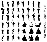 black people silhouettes | Shutterstock .eps vector #200874941