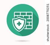antivirus firewall icon. simple ... | Shutterstock .eps vector #2008770251