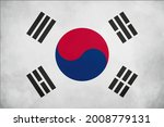old vintage flag of korea. | Shutterstock .eps vector #2008779131