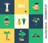 brazil icons | Shutterstock .eps vector #200880929