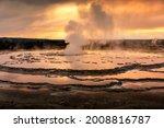 Fountain Geyser Basin With...