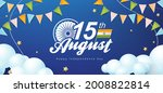 independence day india...   Shutterstock .eps vector #2008822814